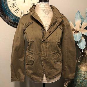 Zara studded zip front jacket size large